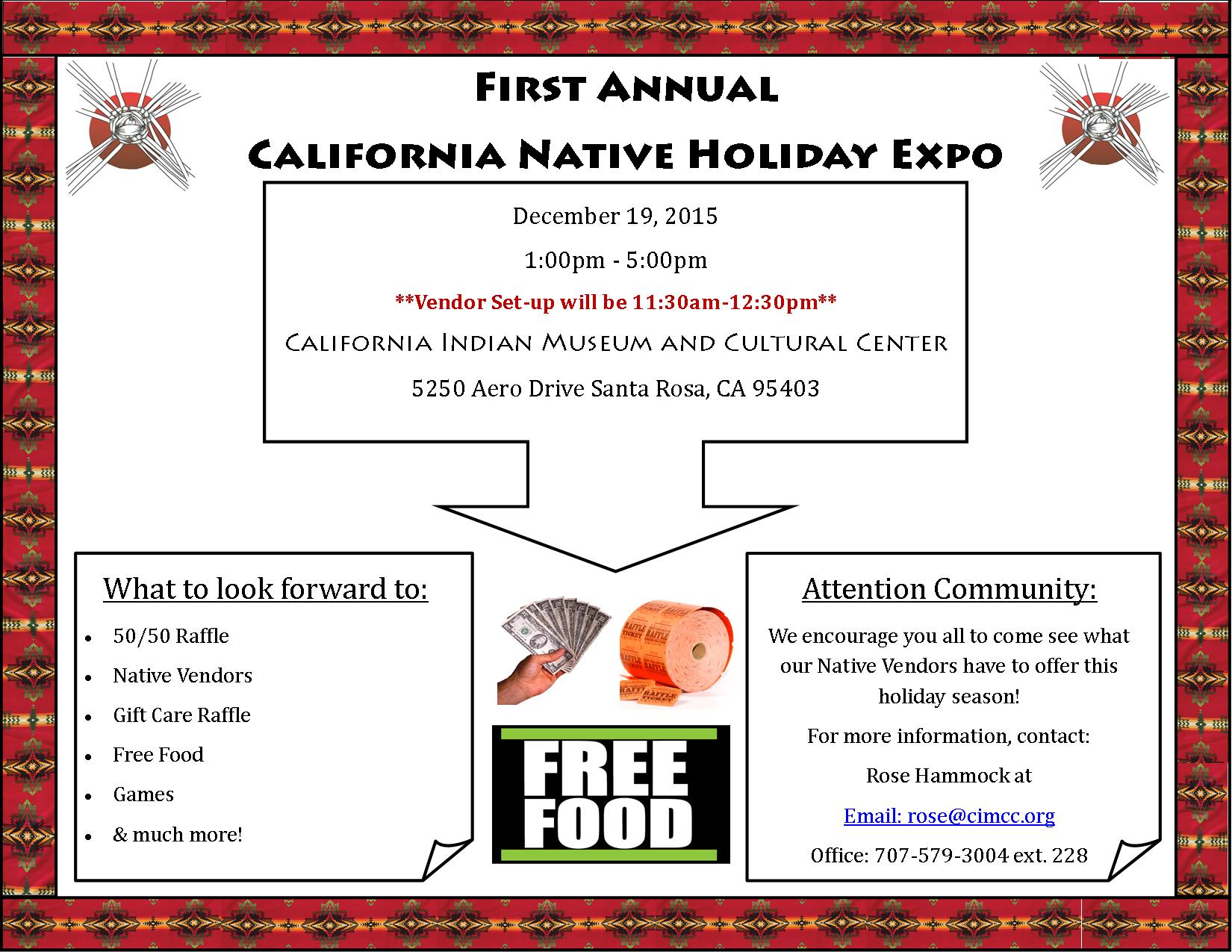 California Native Holiday Expo flyer