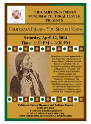 California Indians You Should Know flyer