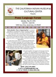 CIMCC Pomo Language Flyer May 10 2014