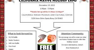 California Native Holiday Expo flyer