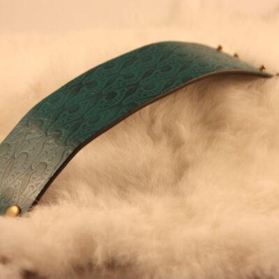 Salmon Leather Cuff Thomas (3)