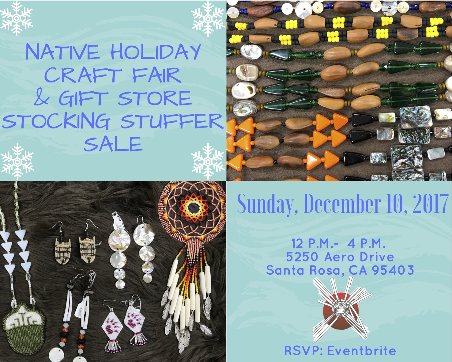 Native holiday craft fair gift store stocking stuffer for Craft store santa rosa