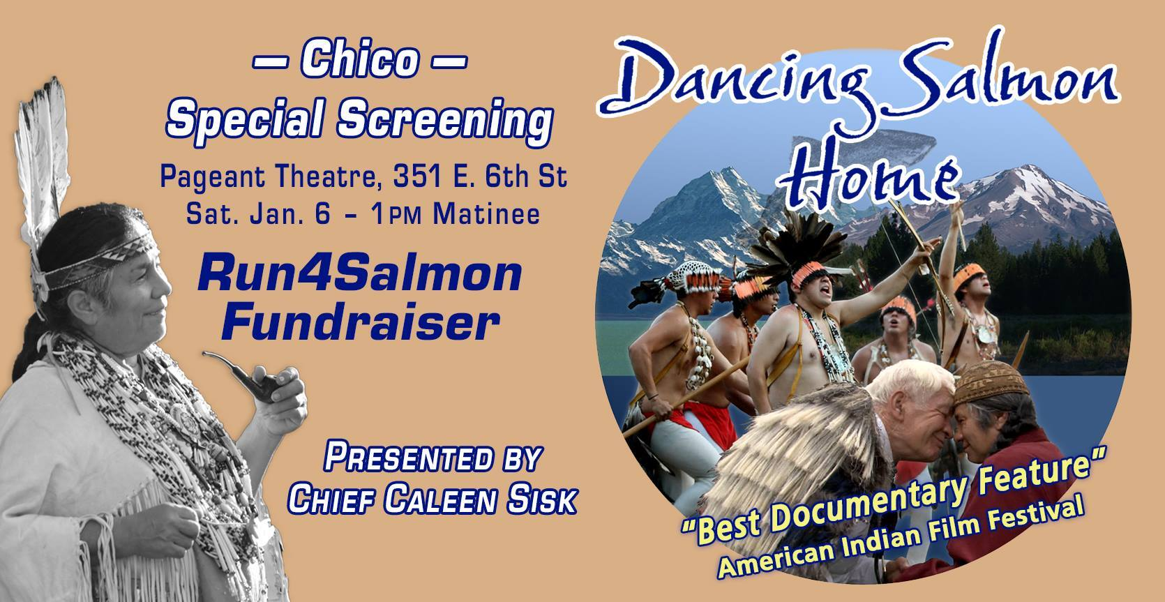Dancing Salmon Home Documentary showing 1-3 PM @ Chico | California | United States